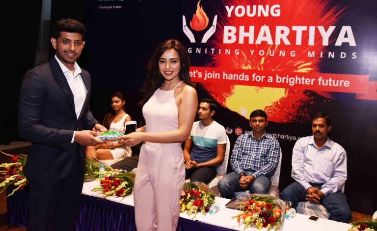 Ameya Pratap Singh's youth think tank 'Young Bhartiya' launched in presence of Neha Sharma.3