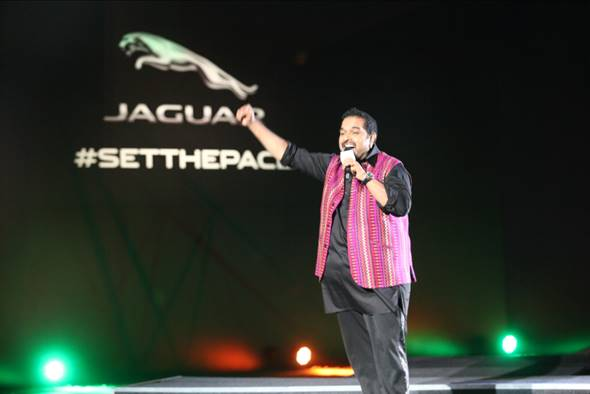 Shankar Mahadevan performs at the Grand Launch of the Jaguar F-PACE in Mumbai