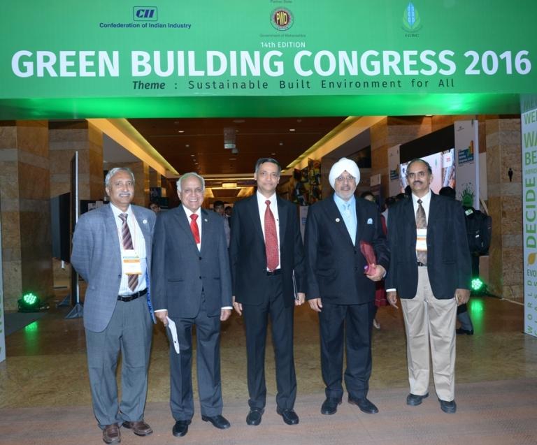 Mr. Prem Jain & Mr. Gurmeet Singh Arora of IGBC at Green Building Congress 2016 in Mumbai