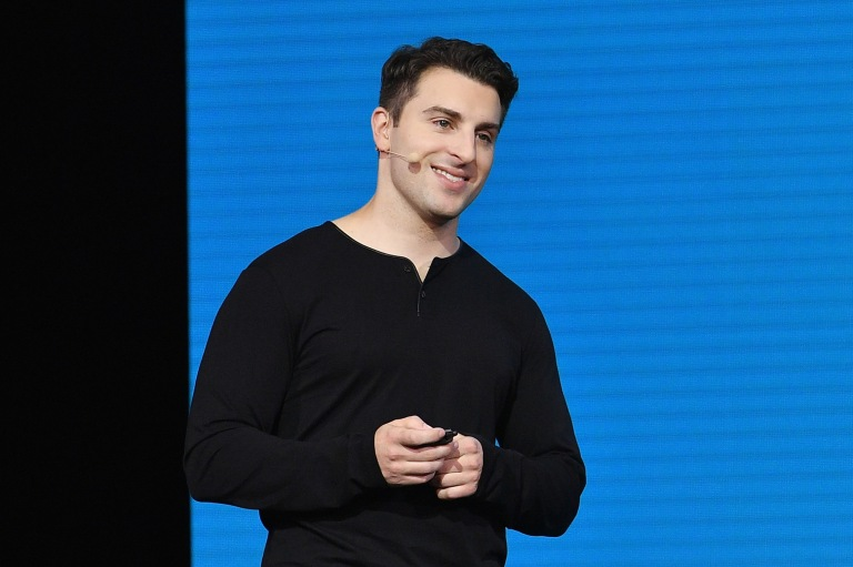 """LOS ANGELES, CA - NOVEMBER 17: Airbnb CEO Brian Chesky speaks onstage during """"Introducing Trips"""" Reveal at Airbnb Open LA on November 17, 2016 in Los Angeles, California. (Photo by Mike Windle/Getty Images for Airbnb) *** Local Caption *** Brian Chesky"""