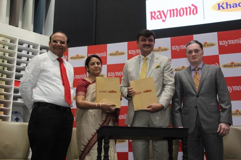 Signing of MOU between Raymond Ltd. & KVIC
