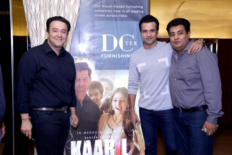(L-R) Nimish Arora – MD Dicitex Furnishing, Actor Ronit Roy & Rajjnish Arora – VC Dicitex Furnishing