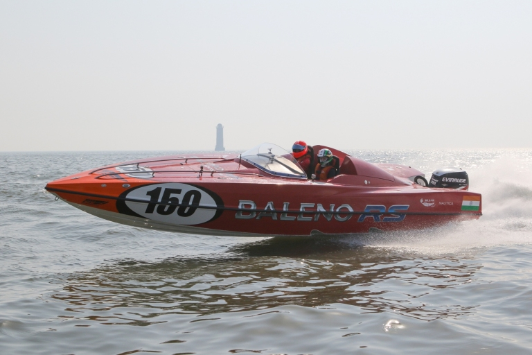 gautam-singhania-at-baleno-rs-booster-jets-panther-boat-on-wednesday