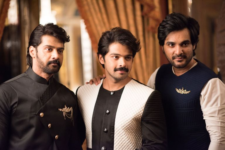 Naveen Chandra, Adith, Sidhu in Varun Chakkilam Menswear Collection.jpg