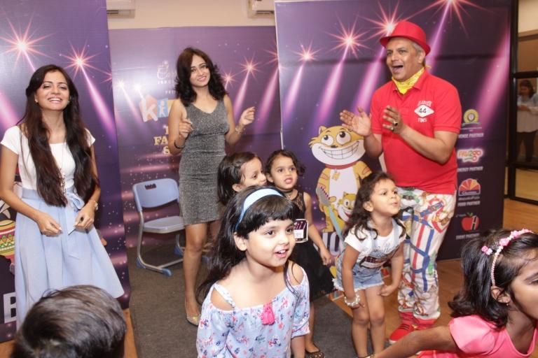 Samiksha Bhatt, Harshali Zine & Imam Siddique dancing with the kids.JPG