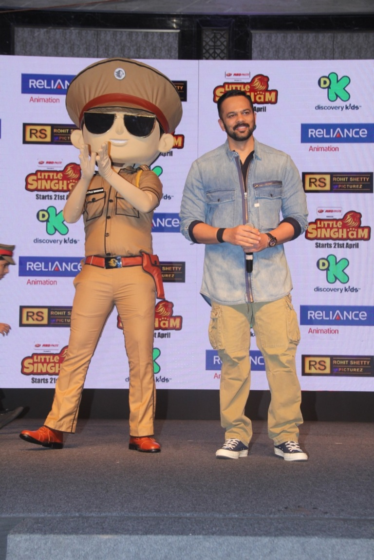 The ace director Rohit Shetty at the launch of Discovery Kids upcoming show 'Little Singham'1