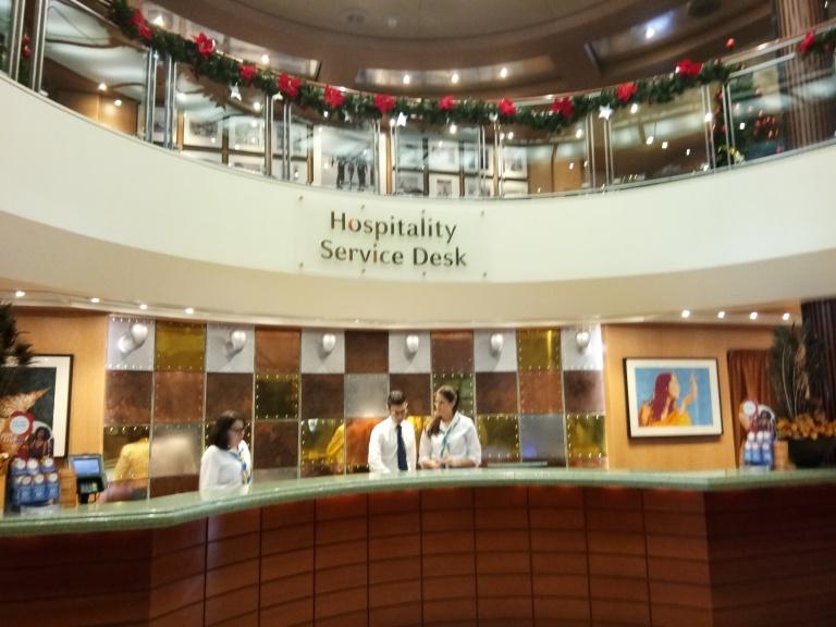 hospitality desk